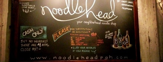 Noodlehead is one of Pgh Eats'n'Drinks.