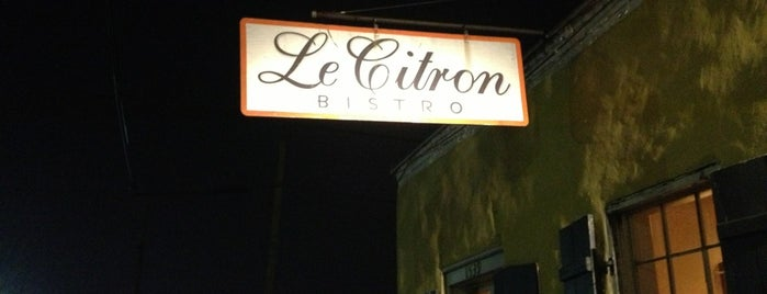 Le Citron Bistro is one of Offbeat's favorite New Orleans restaurants.