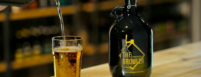 The Growler Barcelona is one of Cerveseries amb artesanals de tirador.