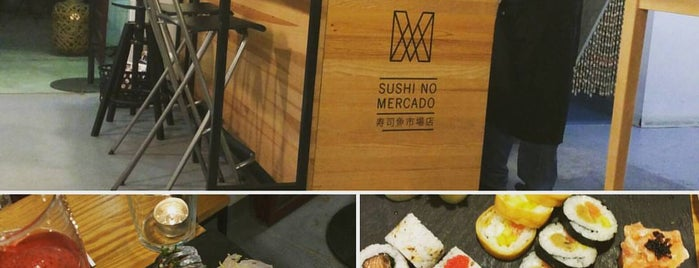 Sushi no Mercado is one of Restaurantes.