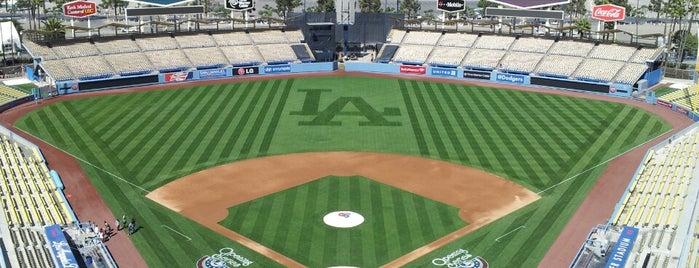 Dodger Stadium is one of MLB parks.