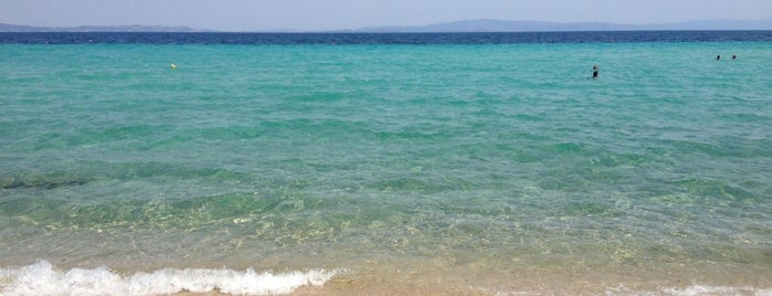 Livrochio Beach is one of 🌞🌊Chalkidiki-->to The Beach 🐋🐬🐟🐠🐡🦀.