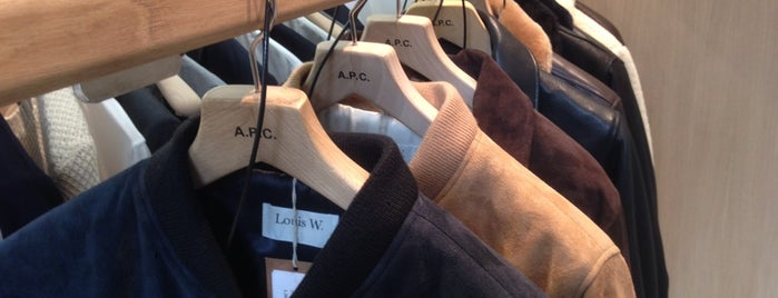 A.P.C. is one of HangOuts x Shops x Sport.