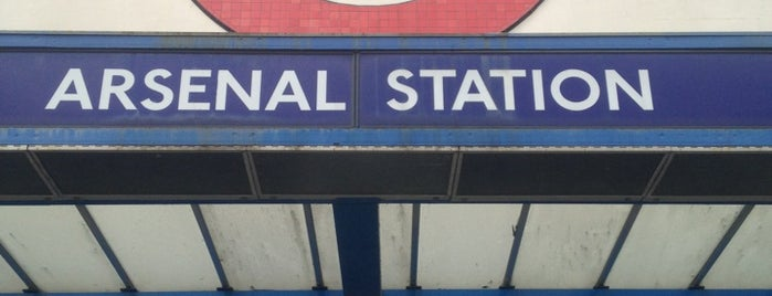 Arsenal London Underground Station is one of A Trip to the Emirates.