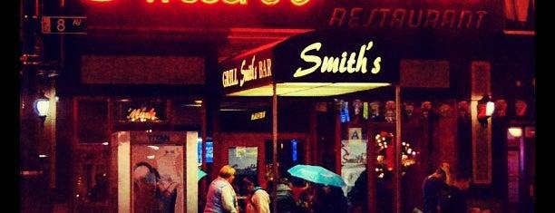 Smith's Bar is one of NYC Bars w/ Free Wi-Fi.