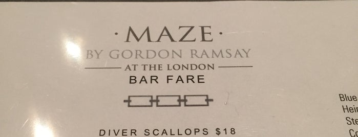 Maze Restaurant is one of New York To Eat List.
