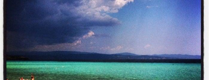 Τρανή Αμμούδα is one of Sithonia.