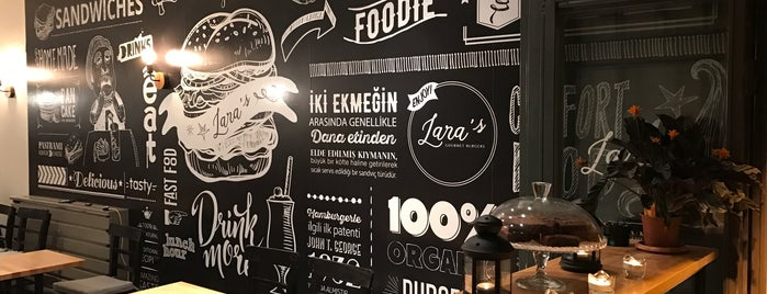 Lara's Gourmet Burgers is one of İstanbul.