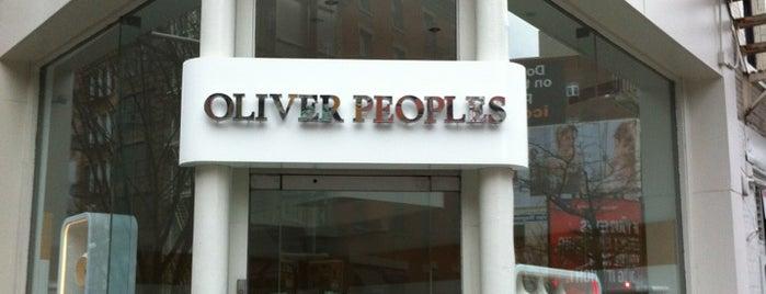 Oliver Peoples is one of best eyeglass stores for four eyed fun.