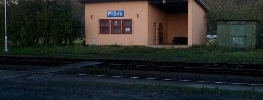 Železniční stanice Pržno is one of Železniční stanice ČR: P (9/14).