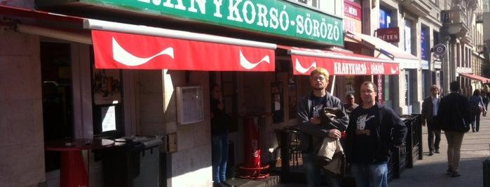 Aranykorsó Söröző is one of Itt már italoztam....