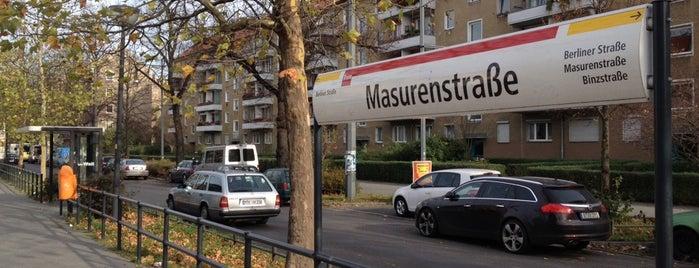 H Masurenstraße is one of Berlin tram line 50.