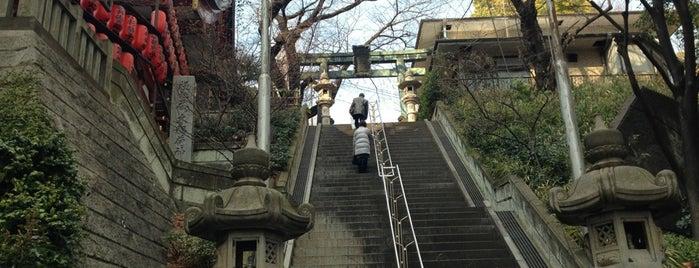 市谷亀岡八幡宮 is one of 気になる場所.