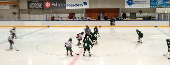 Kauniaisten jäähalli is one of Junior icehockey arenas.