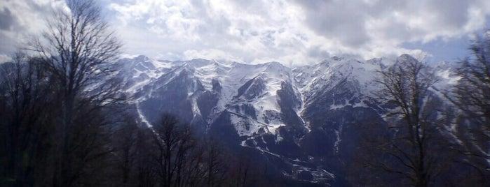 Gazprom ski resort is one of Любимые места.