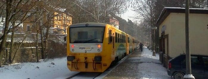 Železniční zastávka Prosečnice is one of Železniční stanice ČR: P (9/14).