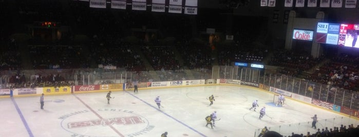 Mullins Center is one of 2012-13 Merrimack College Hockey Road Trips.