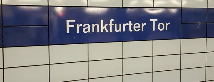 U Frankfurter Tor is one of Besuchte Berliner Bahnhöfe.