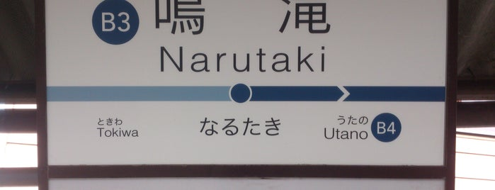 Narutaki Station (B3) is one of 嵐電.