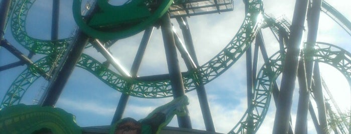 Green Lantern: First Flight is one of Six Flags Magic Mountain Roller Coasters.