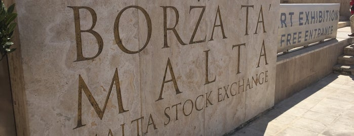 Malta Stock Exchange is one of Malta Cultural Spots.