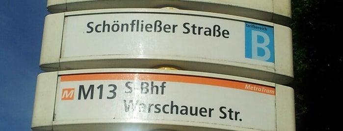 H Schönfließer Straße is one of Berlin tram line 50.