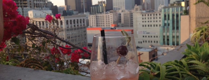 Upstairs Rooftop Lounge at Ace Hotel is one of America's Ultimate Rooftop Bars.