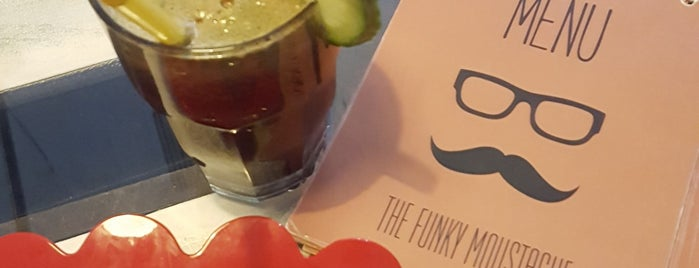 The Funky Moustache is one of Tirana.