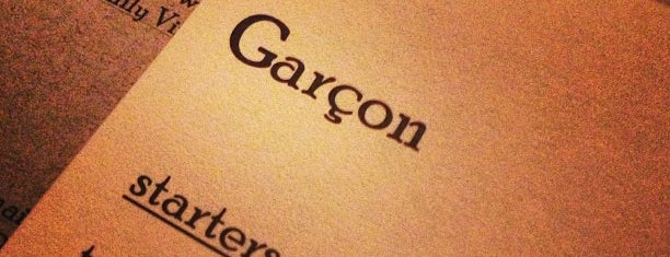 Garçon! is one of Establishments to Frequent.