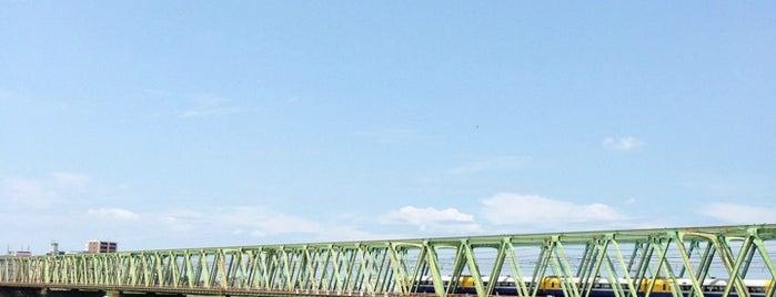 総武本線 江戸川橋梁 is one of 千葉県と隣県を繋ぐ鉄道橋.