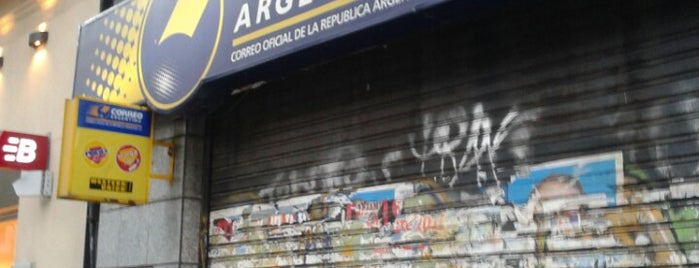 Correo Argentino is one of Lugares usuales.