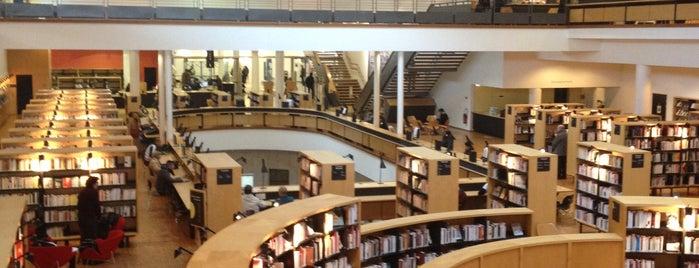 Bibliothèque francophone multimédia (Bfm) is one of Work.