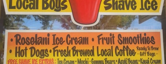Local Boys Shave Ice is one of JP's Places to Eat in Maui.