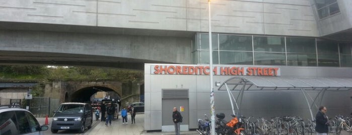 Shoreditch High Street London Overground Station is one of Railway stations visited.
