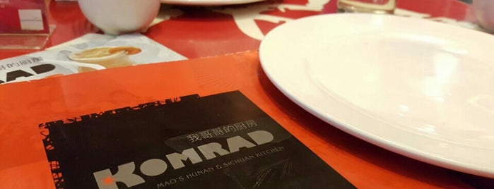 Komrad. Mao's Hunan & Sichuan Kitchen is one of wanna go here....yumyum.