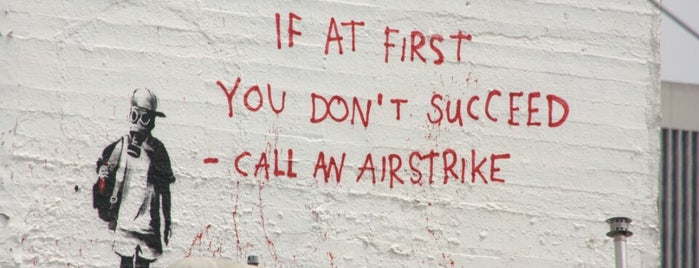 Banksy Mural: Airstrike is one of San Francisco.
