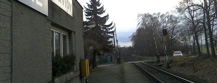 Železniční zastávka Pavlov is one of Železniční stanice ČR: P (9/14).
