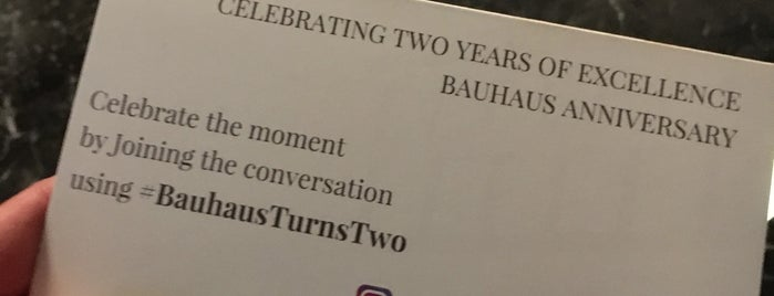 BAUHAUS is one of Vancouver to do list.
