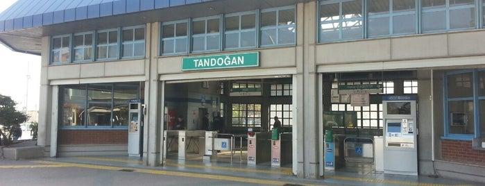 Tandoğan Ankaray İstasyonu (A1) is one of Ankara'daki Ankaray İstasyonları.