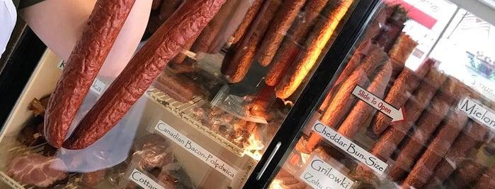 Srodek's Campau Quality Sausage is one of Bizarre Foods America: Detroit.