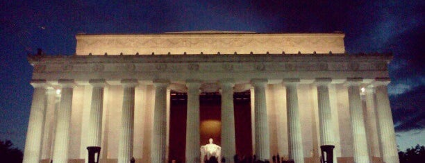 Lincoln Memorial is one of things done with the family and doug.