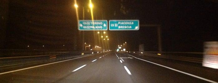 Raccordo A7 - A26/A7 / (MI-GE) - (A26 dir.) is one of A7 Milano-Genova.