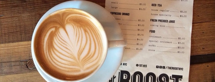 The Roost is one of 25 Top Coffee Shops in NYC.