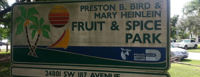 Fruit & Spice Park is one of Miami.