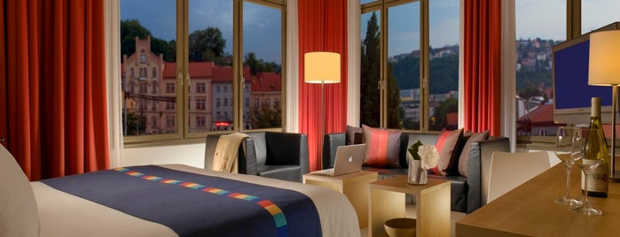Park Inn Hotel Prague is one of The 15 Best Places with a Rooftop in Prague.