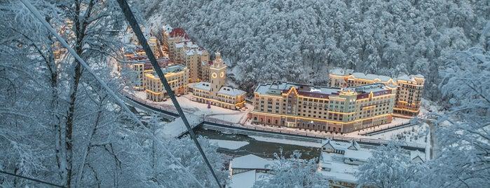 Горнолыжный курорт Роза Хутор is one of Закладки IZI.travel.