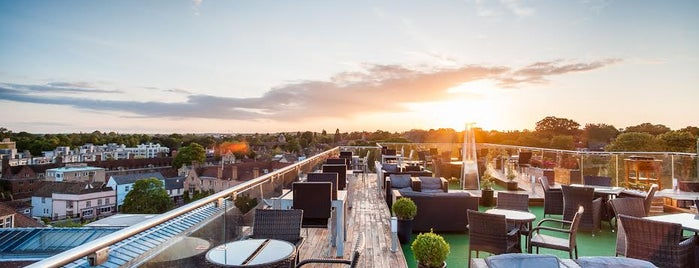 The Varsity Hotel Roof Terrace is one of Best Bars to watch the World Cup 2014 in the UK.