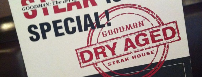 GOODMAN Steak House is one of Restaurants rating.