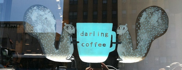 Darling Coffee is one of Manhattan's Best Coffee by Subway Stop.