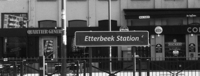 Etterbeek Gare / Etterbeek Station (STIB / MIVB | TEC | De Lijn) is one of Belgium / Brussels / Tram / Line 25.